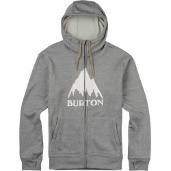 Bluza snowboardowa BURTON OAK FULL - ZIP HOODIE / MONUMENT HEATHER