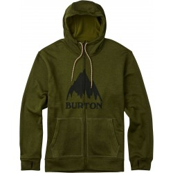 Bluza snowboardowa BURTON OAK FULL - ZIP HOODIE / OLIVE BRANCH HEATHER