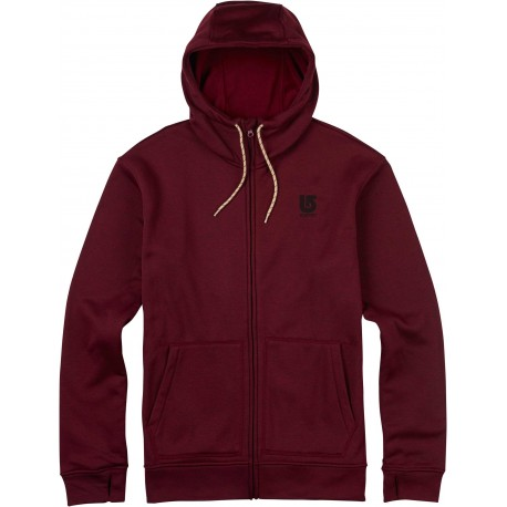 OAK FULL - ZIP HOODIE / WINO HEATHER