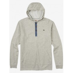 DEXTER HOODED HENLEY / HIGH RISE HEATHER