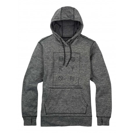 QUARTZ PULLOVER / TRUE BLACK HEATHER
