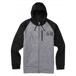 BONDED FULL-ZIP / MONUMENT HEATHER