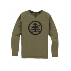 BONDED CREW / DUSTY OLIVE HEATHER