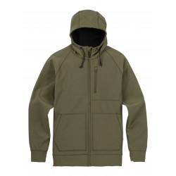 BONDED FULL-ZIP / DUSTY OLIVE HEATHER