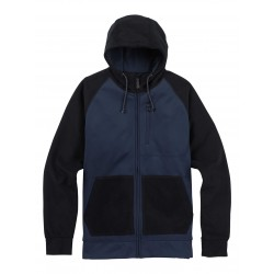 BONDED FULL-ZIP / MOOD INDIGO TWILL