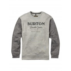 Bluza snowboardowa BURTON OAK CREW / MONUMENT HEATHER / TRUE BLACK HEATHER