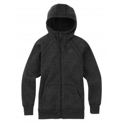 Damska bluza snowboardowa BURTON SCOOP FULL-ZIP / TRUE BLACK SWEATER