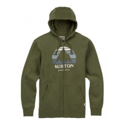 UNDERHILL LOGO FULL-ZIP / DUSTY OLIVE