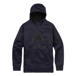 CROWN BONDED PULLOVER / MOOD INDIGO HEATHER