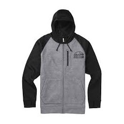CROWN BONDED FULL-ZIP / MONUMENT HEATHER