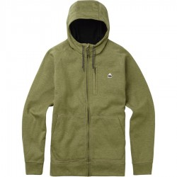 CROWN BONDED FULL-ZIP / ALOE HEATHER FLECK