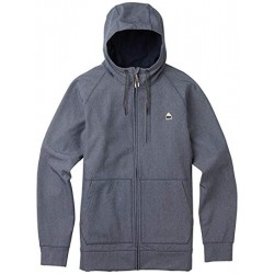 CROWN BONDED FULL-ZIP / DENIM HEATHER