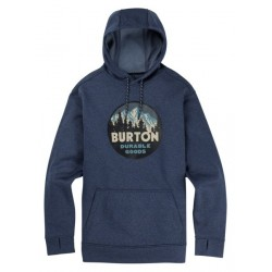 Bluza snowboardowa BURTON OAK PULLOVER / MOOD INDIGO HEATHER 2019