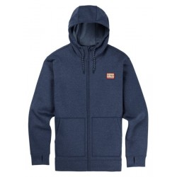 Bluza snowboardowa BURTON OAK FULL-ZIP / MOOD INDIGO HEATHER 2019