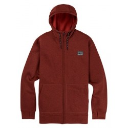 Bluza snowboardowa BURTON OAK FULL-ZIP / BITTERS HEATHER 2019