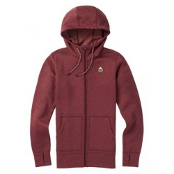 Damska bluza snowboardowa BURTON OAK FULL-ZIP / PORT ROYAL HEATHER 2019