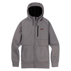Bluza snowboardowa BURTON CROWN BONDED FULL- ZIP / MONUMENT HEATHER 2019