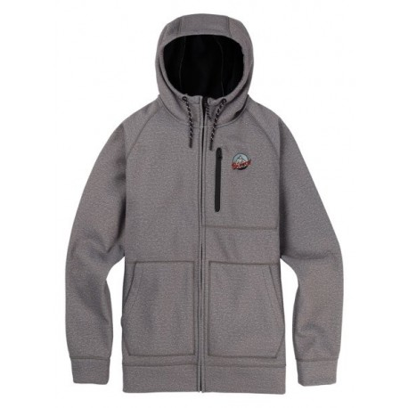CROWN BONDED FULL- ZIP  / MONUMENT HEATHER 2019