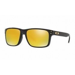 OKULARY OAKLEY / HOLBROOK / POLISHED BLACK / 24K IRID