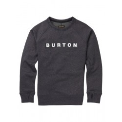 Damska bluza snowboardowa BURTON OAK CREW / TRUE BLACK HEATHER 2019