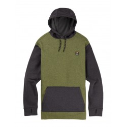Bluza snowboardowa BURTON OAK PULLOVER / CLOVER HEATHER / TRUE BLACK HEATHER 2019
