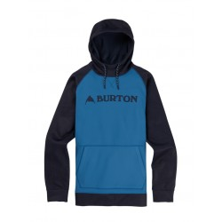 Bluza snowboardowa BURTON CROWN BONDED PULLOVER / VALLARTA BLUE / MOOD INDIGO HEATHER 2019