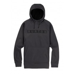 Bluza snowboardowa BURTON CROWN BONDED PULLOVER / TRUE BLACK HEATHER 2019