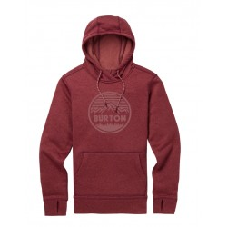 Damska bluza snowboardowa BURTON OAK PULLOVER / PORT ROYAL HEATHER 2019