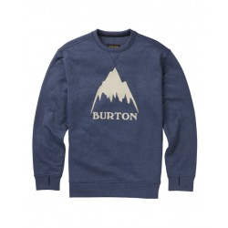Bluza snowboardowa BURTON OAK CREW / MOOD INDIGO HEATHER 2019