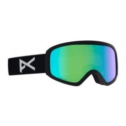 Damskie gogle snowboardowe ANON INSIGHT SONAR / WITH SPARE / BLACK / SONARGREEN 2020