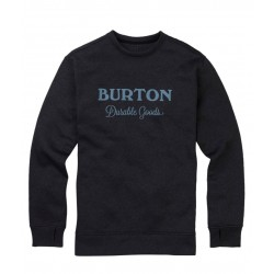 Bluza snowboardowa BURTON OAK CREW / TRUE BLACK HEATHER I