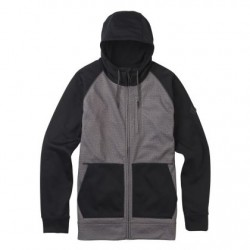 Bluza snowboardowa BURTON CROWN BONDED FULL-ZIP / MOUNUMENT HEATHER