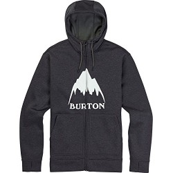 Bluza snowboardowa BURTON OAK FULL - ZIP HOODIE / TRUE BLACK HEATHER
